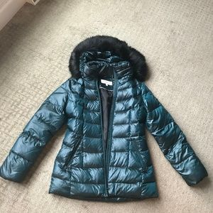 metallic Calvin Klein down  jacket puffer, M